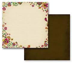 PRIMA ASSAM ,USA 12 X 12  - Дизайнерски скрапбукинг картон 30,5 х 30,5 см.