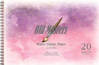 OLD MASTERS Watercolour BLOCK 270g - АКВАРЕЛЕН блок 20л / 480x330
