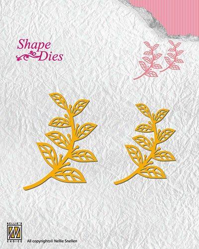 """Lene Design DIES """"Leaves-2"""" 45x58mm - Фигурална щанца за рязане и релеф,. SD127"""