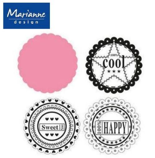 Marianne Design  - Щанцa за рязане, ембос + ПЕЧАТИ COL1321