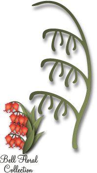 IM Enterpises USA DIES - Дизайн щанци за рязане FLORAL STEM 071