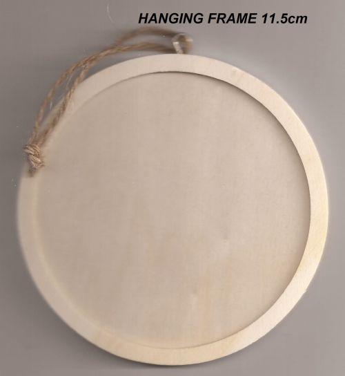 FRAME HANGING CIRCLE - Дървена висяща рамка 11,5 х 11,5 cm