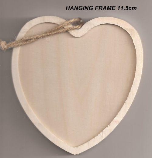 FRAME HANGING FRAME - Дървена висяща рамка 11,5 х 11,5 cm