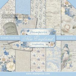 """STAMPERIA Double Face Sheets 10 Pack  - Дизайнерски блок 12""""x12"""" / NEW  ENGLAND"""