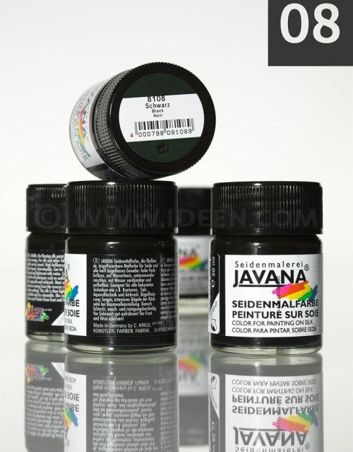 JAVANA SILK 50ml - Пигментна боя за рисуване върху коприна. BLACK