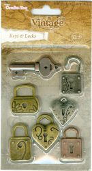 Crafts Too Vintage Selection - Keys & Locks 7pcs