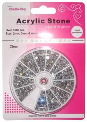 ACRYLIC GEM STONES WHEEL Over 2500 pc