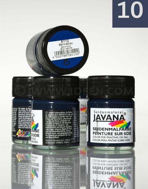JAVANA SILK 50ml - Пигментна боя за рисуване върху коприна  NAVY BLUE