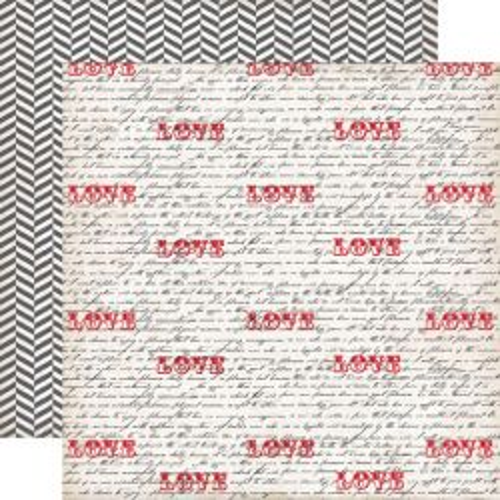 ECHO PARK * LOVE NOTES - Дизайнерски картон  30,5 Х 30,5 см.