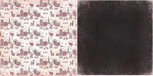 CARTA BELLA USA # PARIS GIRL - Дизайнерски картон  30,5 Х 30,5 см.