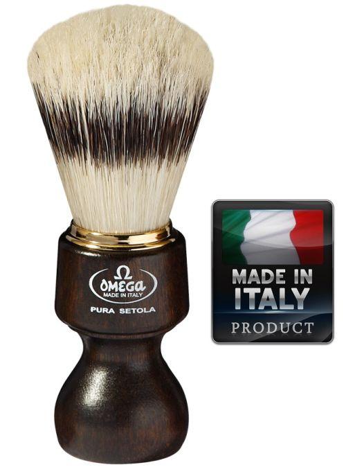 OMEGA 11126 Pure bristle shaving brush BADGER EFFECT 115mm