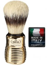 OMEGA 11205 Pure bristle shaving brush BADGER EFFECT 108mm