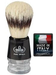 OMEGA 10219 Pure bristle shaving brush BADGER EFFECT 103mm