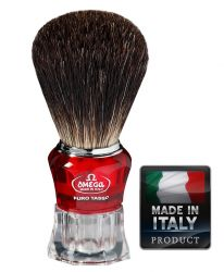 Omega 652 Black Badger shaving brush 106mm