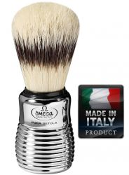 OMEGA 80280 Pure bristle shaving brush BADGER EFFECT 109mm