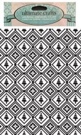 DELUXE FOLDER Christmas Mosaic - Папка за релеф 15х11 см.