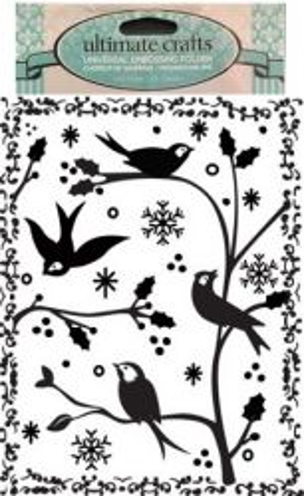 DELUXE FOLDER Framed Birds & Branches - Папка за релеф 15х11 см.