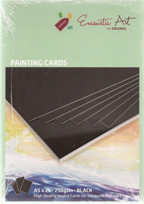 Encaustic Cards - Комплект 24 бр. картички за енкаустика А5 ЧЕРЕН