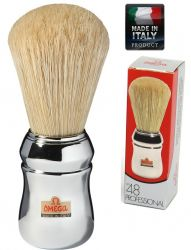 "OMEGA 10048 ""FORTY EIGHT 48""  Pure bristle shaving brush – Professional"
