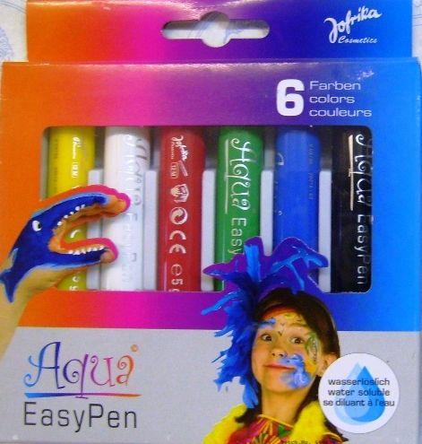 AQUA EASY PEN ,Germany  - К-кт 6цв големи пастели за лице/тяло