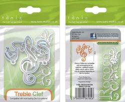 MUSIC TONIC TREBLE CLEF DIE - Щанца1182e