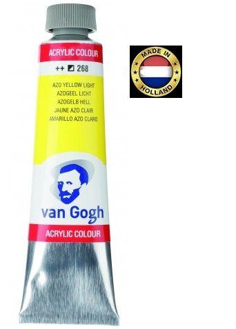 VAN GOGH Superfine ACRYLIC 268 - ЕКСТРА Фин АКРИЛ 40мл. YELLOW  LIGHT