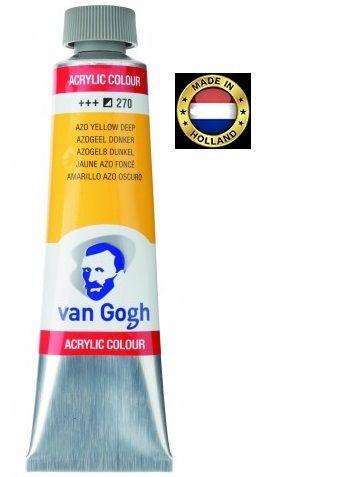 VAN GOGH Superfine ACRYLIC 270 - ЕКСТРА Фин АКРИЛ 40мл. YELLOW  DEEP