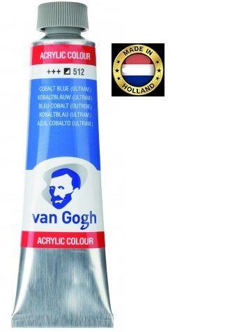 VAN GOGH Superfine ACRYLIC 512 - ЕКСТРА Фин АКРИЛ 40мл. COBALT  BLUE /ULTRAM/