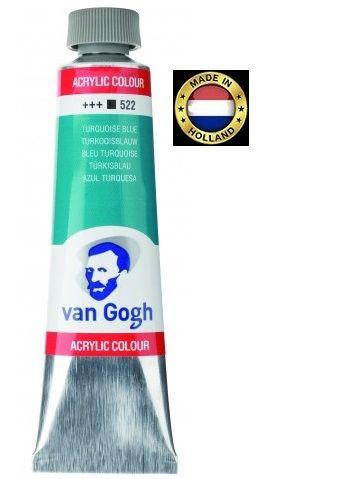 VAN GOGH Superfine ACRYLIC 522 - ЕКСТРА Фин АКРИЛ 40мл. TURQUOISE BLUE