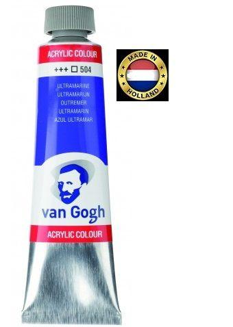 VAN GOGH Superfine ACRYLIC 504 - ЕКСТРА Фин АКРИЛ 40мл. ULTRAMARINE