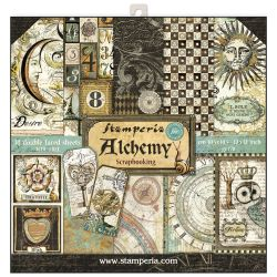 """STAMPERIA Double Face Sheets 10 Pack  - Дизайнерски блок 12""""x12"""" / Alchemy"""