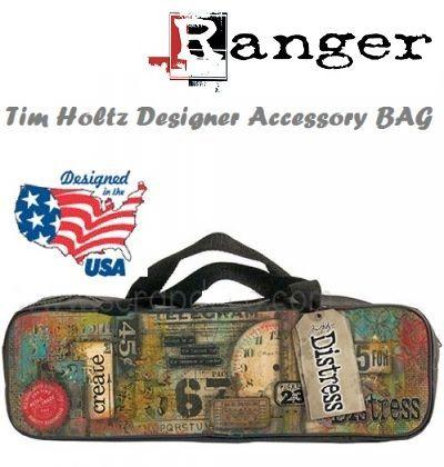 Designer Accessory Bag by Tim Holtz - Дизайнерска чанта / несесер с цип за аксесоари.