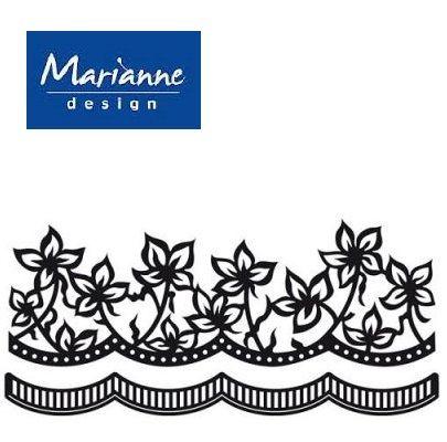 Marianne Design ANJA'S FLOWERS  - Шаблон за рязане и ембос