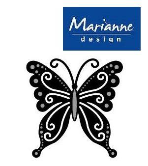 BUTTERFLY Marianne Design - Шаблон за рязане и ембос 1 бр.