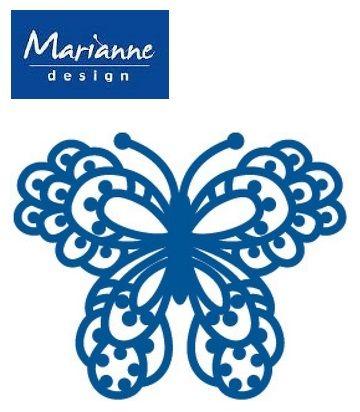 BUTTERFLY Marianne Design - Шаблон за рязане и ембос