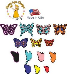 BUTTERFLIES Cheery Lynn ,USA - Шаблон за рязане и ембос d138