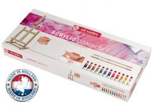 TALENS ART ACRYLIC SET - К-кт акрилни бои , статив и помощни материали