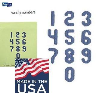 NUMBERS QUICKutz USA - К-кт шаблони за изрязване ЦИФРИ / TS-0465