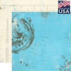 AUTHENTIQUE USA # ITENARY 12 X 12  - Дизайнерски скрапбукинг картон 30,5 х 30,5 см.