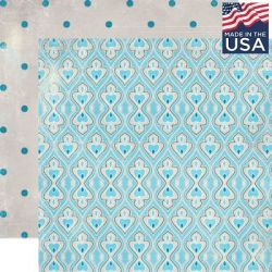 AUTHENTIQUE USA # VOYAGE 12 X 12  - Дизайнерски скрапбукинг картон 30,5 х 30,5 см.