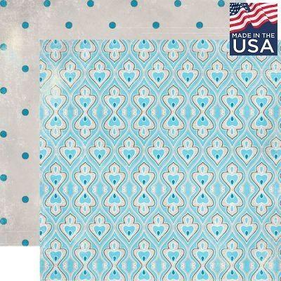 AUTHENTIQUE USA # VOYAGE 12 X 12  - Дизайнерски скрапбукинг картон 30,5 х 30,5 см.