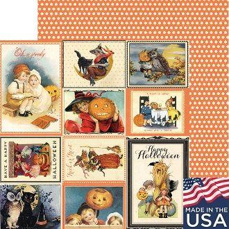 AUTHENTIQUE USA # MYSTIC 12 X 12  - Дизайнерски скрапбукинг картон 30,5 х 30,5 см.