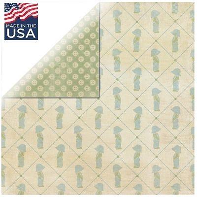 AUTHENTIQUE USA # PRECIOUS BOY 12 X 12  - Дизайнерски скрапбукинг картон 30,5 х 30,5 см.