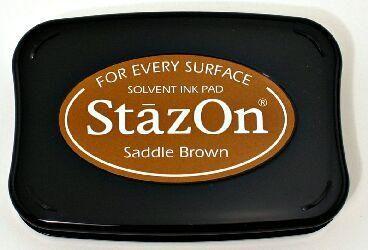 StazOn - тампон за всякаква твърда или гланцирана повърхност - Saddle brown
