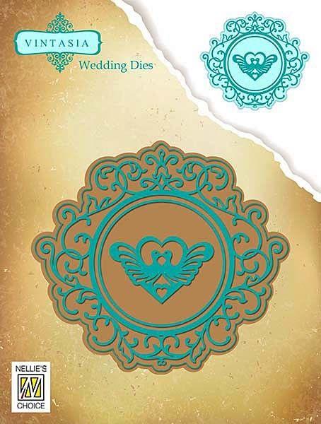 NELLIE`S CHOICE # VINTASIA COLLECTION, Wedding Dies - Щанца за рязане и релеф - 3 елемента