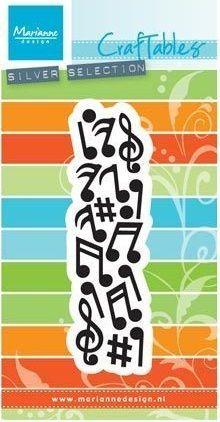 Marianne Design - Шаблон за рязане и ембос Music CR1367