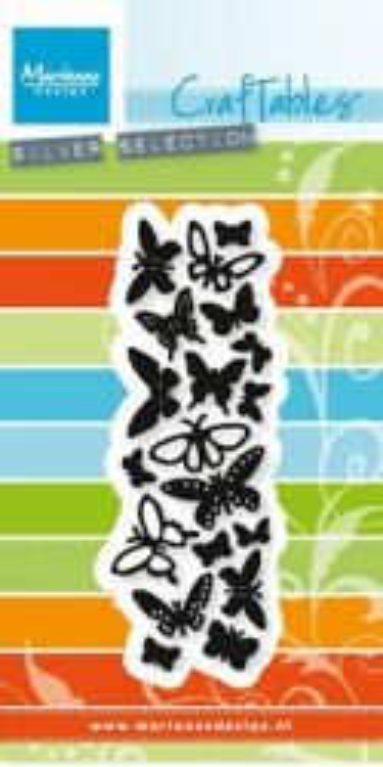 BUTTERFLIES Marianne Design - Шаблони за рязане и ембос CR1354