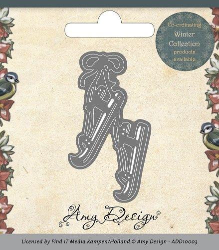AMY DESIGN DIES -  SKATES - Шаблони за рязане и ембос