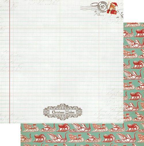 MME MISTLETOEMAGIC ,USA 12 X 12  - Дизайнерски скрапбукинг картон 30,5 х 30,5 см.