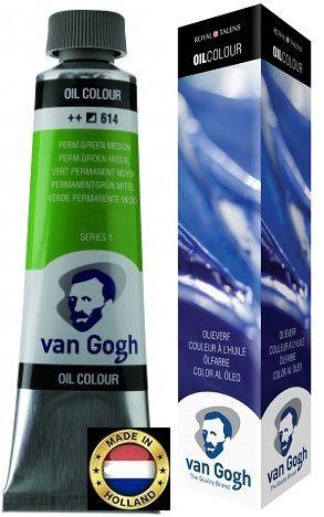VAN GOGH OIL - Маслена боя 200 мл. - PERM GREEN MEDIUM / 614
